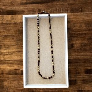 Lucky Brand Red and Gold Long Necklace